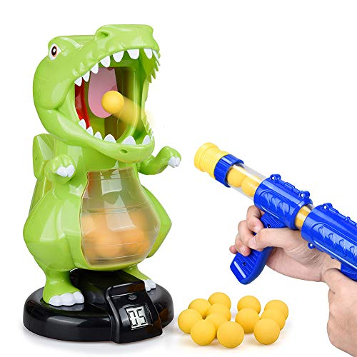 Dinosaur Toys Shooting Games for Kids Shooting Toys Target Practice with LCD Score Record and 24 Foam BallsAir Balls Shooting Foam Ball Game for Boys Girls and Adult Ideal Gifts Toys for Boys amp Girls