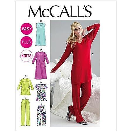 McCalls M6474 - Patrones de Costura para Confeccionar Pijamas (Instrucciones en inglés y en alemán), diseño Moderno