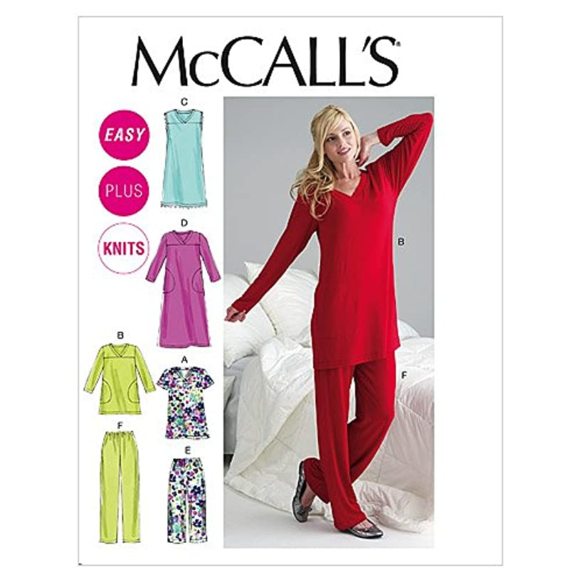 McCall's Patterns M6474 Misses'/Women's Top, Tunic, Gowns and Pants, Size RR (18W-20W-22W-24W)