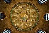 SHINERING 1000 Piezas Jigsaw Puzzle Rompecabezas de Techo de Mosaico de la Catedral de Ravenna, Italia Regalo para niño decoración Rompecabezas educativos