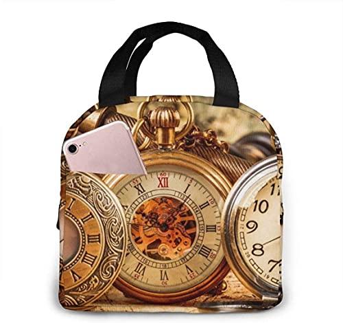 Bolsa de almuerzo con aislamiento térmico portátil para reloj de pulsera con cierre de cremallera, caja más fresca reutilizable para adultos