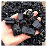 JSJJAWA Piedras Preciosas 100 g 1-3cm Natural Negro Cristal Turmalina Roca áspera Grava Méter Modelo Curación Stone Garden Fish Tank Aquarium (Color : 100g, Size : S)