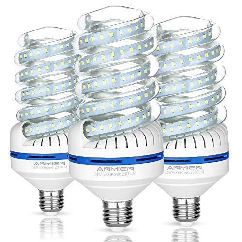 Bro.Light E27 Lampadine Led 24 Watt Lampade Equivalenti a 220W, Luce Bianca 6000K 2300 Lumens Lampadine Led, Non Dimmerabile Angolo a Fascio 360 Gradi, AC 85~265V, Imballaggio Da 3 Pezzi