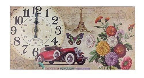 GMMH Horloge Murale en Bois Style Maison de Campagne 60 cm