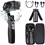 Gopro Gimbal Stabilizer 3-Axis Action Camera Gimbal Stabilizer for Gopro Hero 8/7/6/5/4/3 DJI OSMO Action Insta360 One R Sony RX0 SJ YI Cam Osmo Wireless Control Splash Proof, Hohem iSteady Pro3