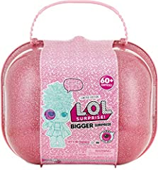 L.O.L. Surprise provides the ultimate unboxing experience with the L.O.L. Surprise Bigger Surprise Discover 60+ never before seen surprises inside with exclusive dolls and accessories Includes: 2 limited edition L.O.L. Surprise dolls, each with 7 sur...