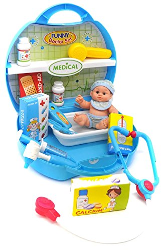 Little Treasures Deluxe 12 Piece Pretend amp Play Dr Medical Set in carrycase playset Toy