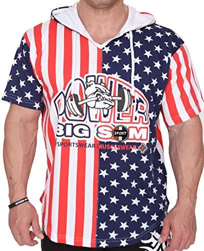 BIG SM EXTREME SPORTSWEAR Hombre Ragtop Rag Top Camiseta de Culturismo Camisa del músculo Shirt T-Shirt Polo 3234 USA