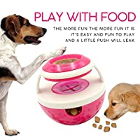 Tiamu 創造的な不倒翁の形おもちゃ ペット/犬の食品ディスペンサー 噛むおもちゃ 食品を離すボール玩具 IQトレーニング玩具 インタラクティブの玩具 ローゼ