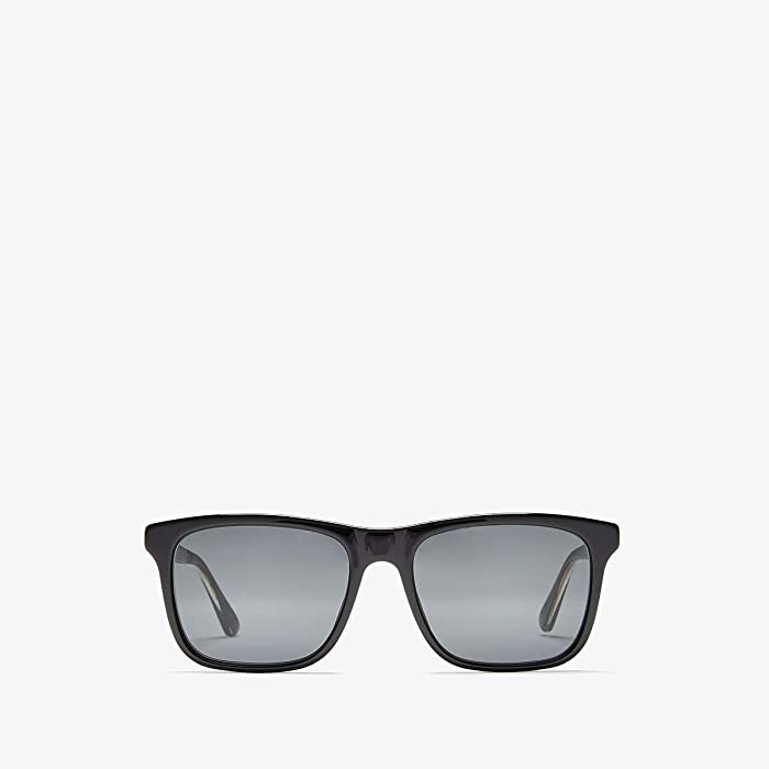 Gucci  GG0381S (Black/Crystal/Grey) Fashion Sunglasses