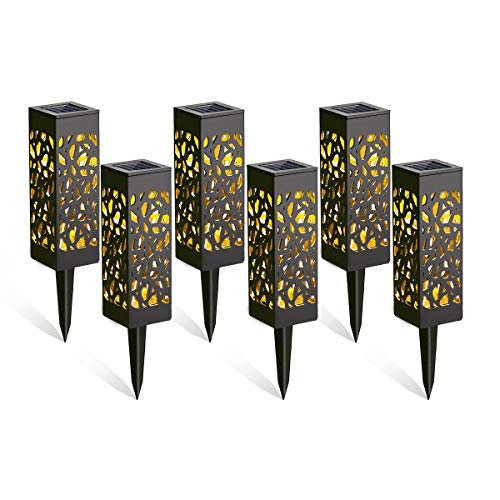 Solarleuchten Garten, Görvitor 6 Stück Solarlampen für Außen Garten, IP65 Wasserdicht Dekorative Warmlicht LED Solar Gartenleuchten für Terrasse Rasen Garten Hofwege