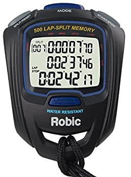 Robic SC-757W 500 Dual Memory Stopwatch Black/Blue