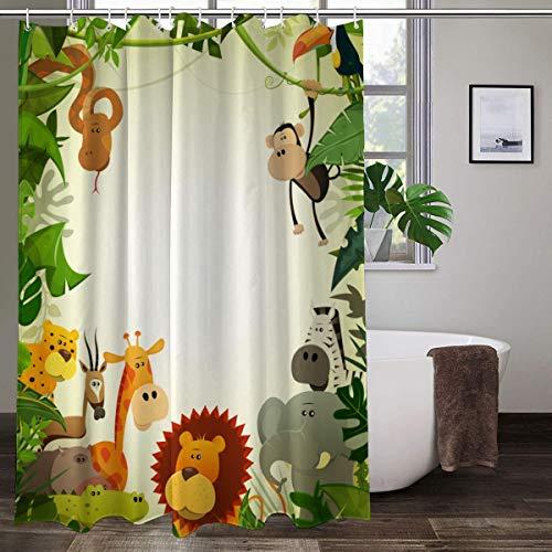 XCBN Cortina de Ducha de Perro con Estampado 3D para baño, Cortina de baño Impermeable, Cortinas de decoración de baño Lavables con Pulpo, A4 150x200cm