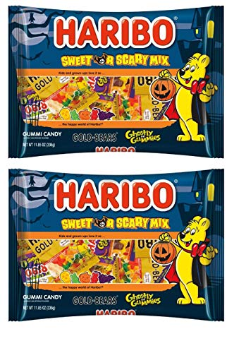 Haribo Halloween Sweet or Scary Mix 23.70oz - 44 Individually Wrapped Pouches