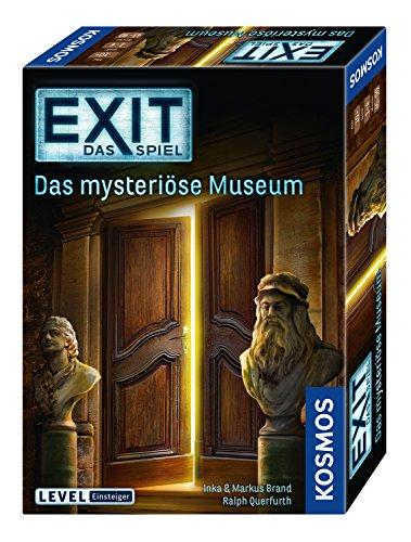 KOSMOS 694227 EXIT Das Spiel, Das mysteriöse Museum, Level: Einsteiger, Escape Room Spiel, für 1 bis 4 Spieler ab 10 Jahren, einmaliges Event-Spiel für Erwachsene und Kinder