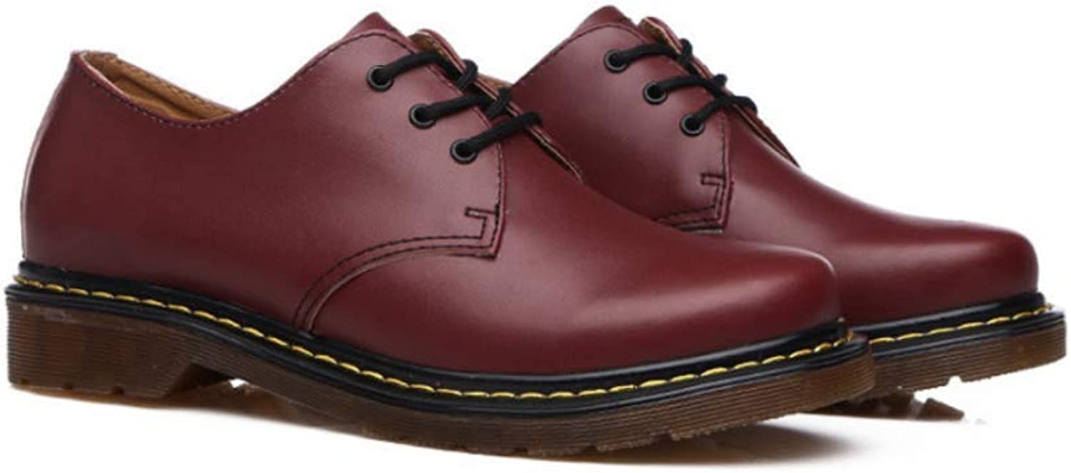 LYZGF Men Youth Casual Fashion Martin Boot Large Size Lace up Leather shoes