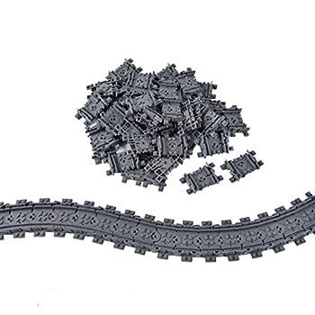 50X Flexible Tracks Railroad Train Track Non-Powered Rail Compatible Major Brand Construction Block Toy