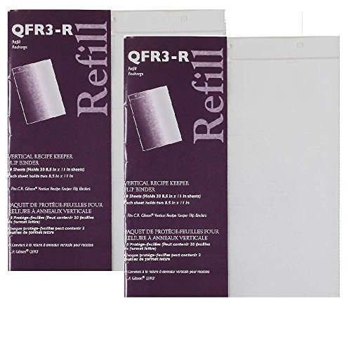 C.R. Gibson 10 Count Refill for Vertical Flip Recipe Keeper - 2 pack (2)