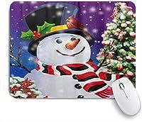 PATINISAマウスパッド クリスマス雪だるまクリスマスイブツリー枢機卿の鳥 ゲーミング オフィス おしゃれ 防水 耐久性が良い 滑り止めゴム底 ゲーミングなど適用 マウス 用ノートブックコンピュータマウスマット