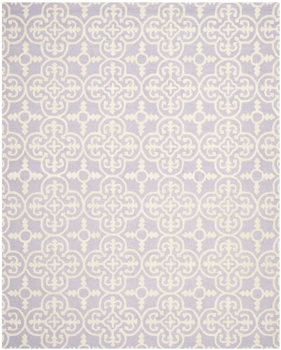 Safavieh Cambridge Collection CAM133C Handmade Moroccan Premium Wool Area Rug, 9' x 12', Lavender / Ivory