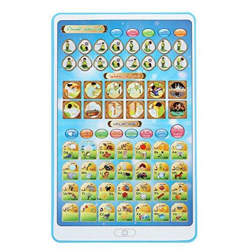 Tutoy Islamisches Kleinkind-Lachen Lernen Spielwaren-Tablet-Kind-Baby-Intelligente Stadien-Arabische Alphabete - Blau