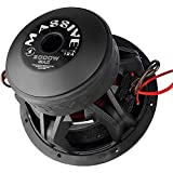 """Car Subwoofer by Massive Audio KILOX124 - High SPL Bass 12"""" Subwoofer - 12 Inch Car Audio 2,000 Watt MAX, 1000w RMS, Competition Subwoofer, Dual 4 Ohm, 3 Inch Voice Coil. Sold Individually"""