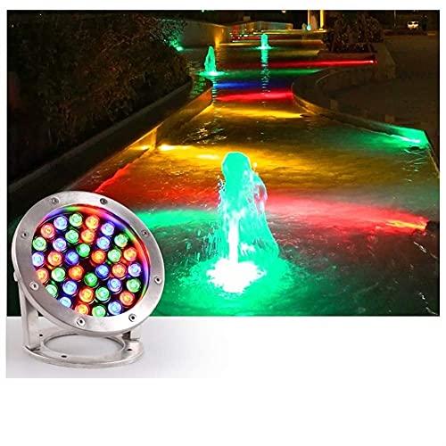 Acier inoxydable Sous-marin Sous-marin Spotlight LED Pond Light 12V IP68 Lumières de fontaine imperméables avec une base réglable utilisée pour la jonge extérieure Jardin de jardin Fontaine Light Pays