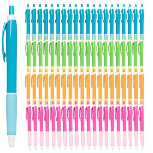 Simply Genius (100 Pack) Retractable Ballpoint Pens Lot Medium Point Black Ink Pens Bulk Click Pens For Journal Notebook Writing Office Supplies Minnesota