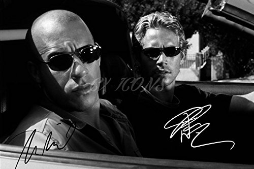 Vin Diesel und Paul Walker Signiert Foto Print–großartige Qualität–30,5x 20,3cm (A4)