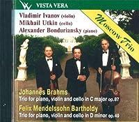 Moscow Trio: Vladimir Ivanov, violin Mikhail Utkin, cello Alexander Bonduriansky, piano. Mendelssohn, Brahms. Piano Trios