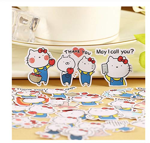 120 Stks Kat Sticker Anime Grappig Voor Kid Diy Laptop Koffer Skateboard Moto Telefoon Auto Speelgoed Stickers