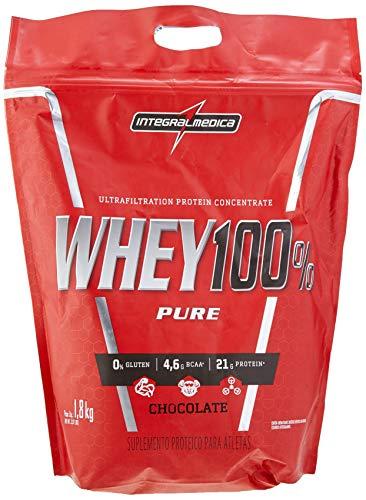 Whey 100% Pure Pouch 1, 8Kg Chocolate, Integralmedica, 1.8Kg