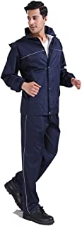 BGROESTWB Snow Rainwear Rain Suit Waterproof Jacket Trousers Set Mens Rain Coat Visibility Multifunction Outdoor Cycling (...