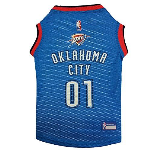 NBA OKLAHOMA CITY THUNDER DOG Jersey, Large - Tank Top Basketball Pet Jersey