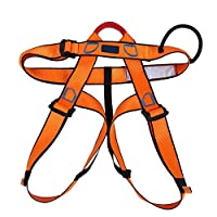 安全ベルト 半身ラペリング - 多目的 マウンテンクライミング 安全ベルト4色 目的 半身 調節可能 屋外男女兼用(Orange)