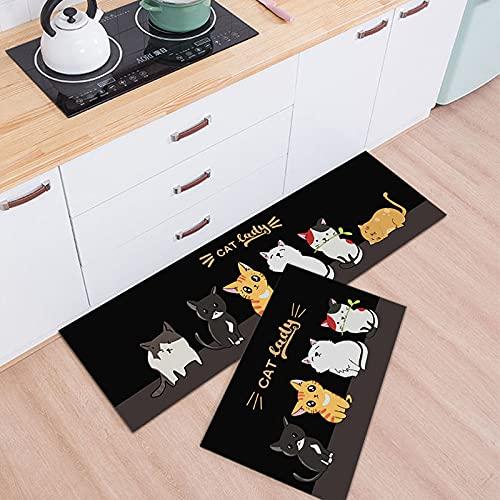 HLXX Alfombra de Cocina para Piso, Alfombra, Dormitorio, balcón, Sala de Estar, Alfombra Moderna Antideslizante, Felpudo de Entrada a casa A6 50x80cm + 50x160cm