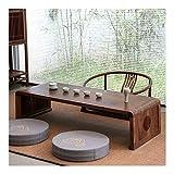 Mesa baja Mesa baja Pequeñas mesas auxiliares Tabla pequeña de madera maciza de té Balcón tatami té japonesa doméstica del piso del estilo Nuevo Chino Pequeño Negro nuez Zen Café Regalos para amigos H