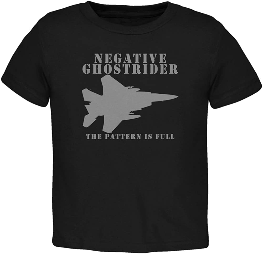 Old Glory Negative Ghostrider Pattern is Full Black Toddler T-Shirt
