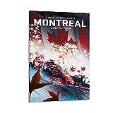 GHASDF Montreal-Poster mit Formel 1, dekoratives Gemälde,