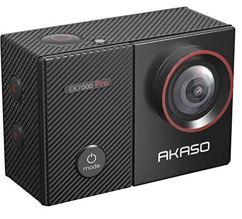 AKASO Sports Camera/Action Cam 4K WiFi helmcamera/onderwatercamera met touchscreen EIS instelbare groothoek met afstandsbediening 16MP met 25 accessoires