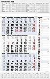 3-Monats-Planer Combi Blau 2020: 3-Monatskalender groß I Wandplaner / Bürokalender mit Datumsschieber, Ferienterminen, Vor-und Nachmonat und Jahresübersicht I extra Streifenplaner I 30 x 47,8 cm