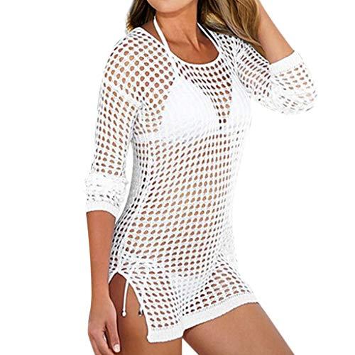 Camisolas y Pareos para Mujer, Dragon868 Vestido de Playa Cuello En V, Beach Cover Up de Punto, Sexy Hueco Bikini Encubrir, Ropa de Playa Verano 2020 Swimwear