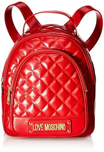 Love Moschino Borsa Quilted Nappa Pu, Zainetto Donna, Rosso (Rosso),...