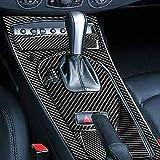 Para BMW Serie Z Z4 E85 E86 2003-2008 Kit Engranajes Panel Marco Surround Tira Cubierta Interior Negro Modificado RRX Fibra Carbono Ajuste y Accesorios Auto/Manual Cambios (Auto Set LHD)