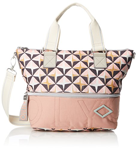 Oilily Damen Charm Geometrical Handbag Shz Henkeltasche, Pink (Rose), 13x26x38 cm