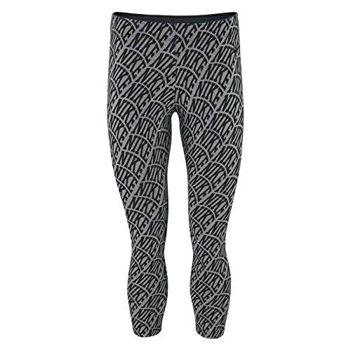 Nike Club Legging Crop Aop2 Tight, Grau / Schwarz, Grau - grau - Größe: X-Small