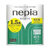 【まとめ買い】ネピア ロング トイレットロール 8ロール ダブル (2枚重ね 45m巻) 無香料【×4個】