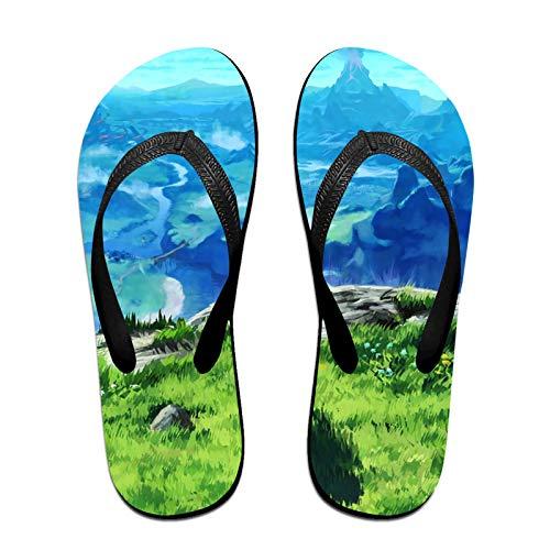 Anime The Legend of Zelda Non-Slip Summer Slippers, Fashion Flip Flops, Beach Sandals, Bathroom Slippers, Water Shoes, Men's and Women's Slippers