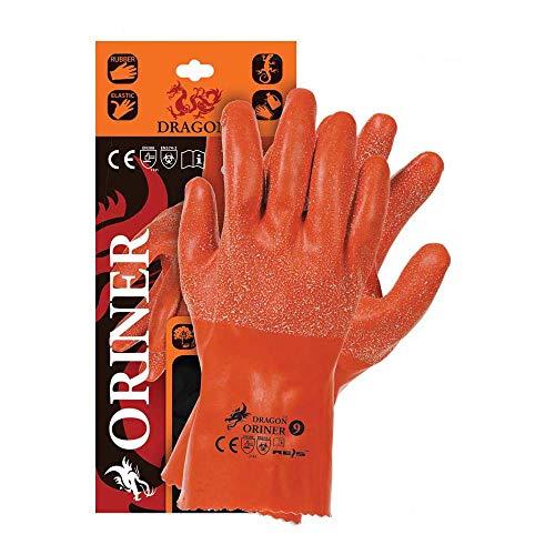 Reis Oriner10 Dragon Schutzhandschuhe, Orange, 10 Größe, 12 Stück