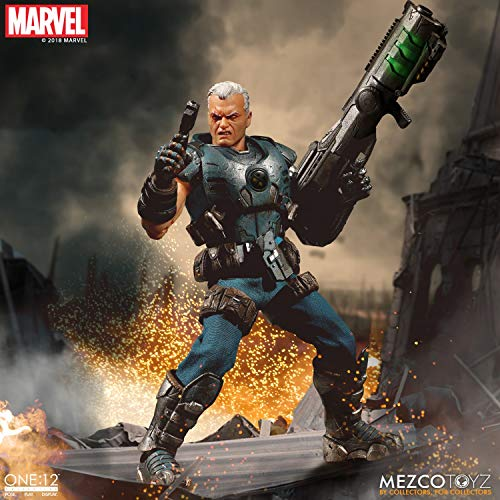 Mezco One: 12 Collective: Marvel Cable Action Figure, Multicolor
